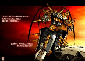 The Chaos Bringer Unicron by dcjosh