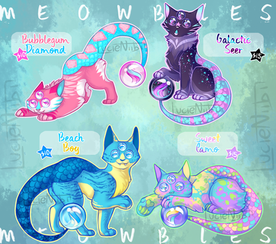 MEOWBLE ADOPTS SET 2 [THREE LEFT] by Lucieniibi