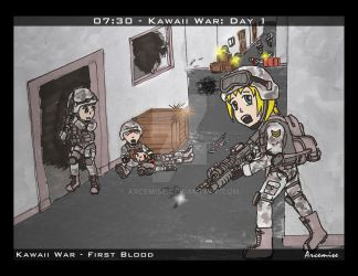 Kawaii War - First Blood by Arcemise