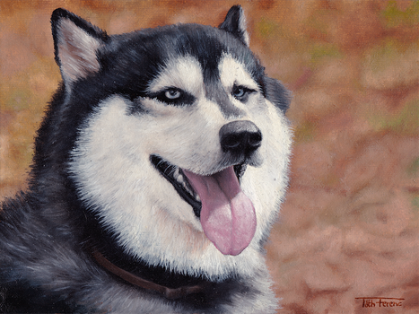 Dog Oilpainting by zwillhyper
