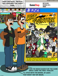 Happy Birthday, FreyFox. Kat-Venture Video Game. by OliverRed