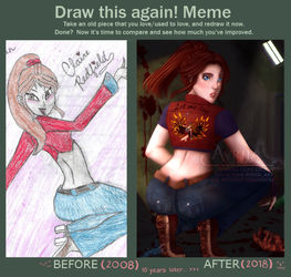 Draw This Again! Meme: Claire Redfield by Avriia