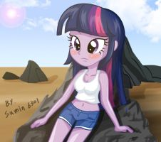Twilight sparkle - Sit and rest. by sumin6301