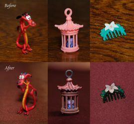 Mushu, Cri-kee's cage, Comb repainted by RYfactory