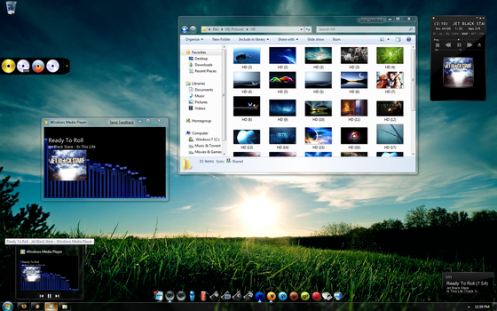 Desk 09 with New Windows 7 OS by Dr-Bee