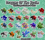 Dragons of the Realm: Wind Dragon Collection by GoldenstarArtist