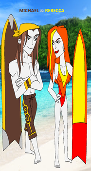 Michael and Rebecca at the beach by SUP-FAN