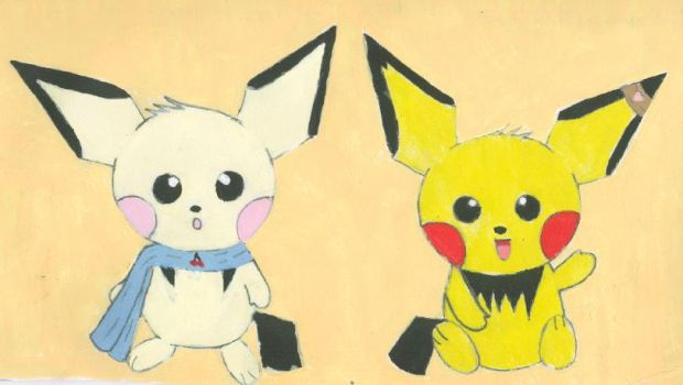 Normal and Shiny Pichu by 174938