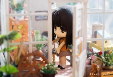 Miho in the Greenhouse by kixkillradio