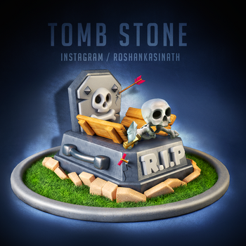 Tomb Stone from Clash Royale by roshankasinath