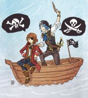 Life is Strange - Max and Chloe pirates by Maarika