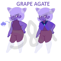 Grape Agate Adopt [Reduced price OPEN] by Sherlock-and-Terezi