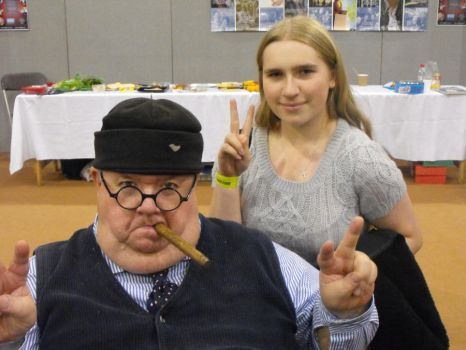 Me and Ian McNeice by Maria-Marsbar