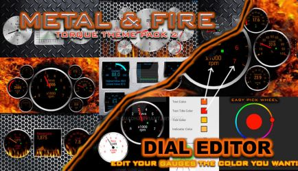 Metal and Fire Designs for Torque Pro Android by quadh