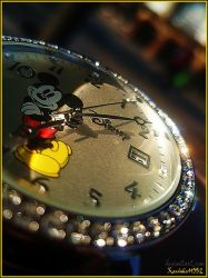 Time . Mickey Mouse Clock by karolinka11352