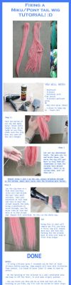 Tutorial: Fixing Ponytail wig by LolaInProgress