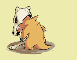 Lonely Cubone by Shinigami-GFX