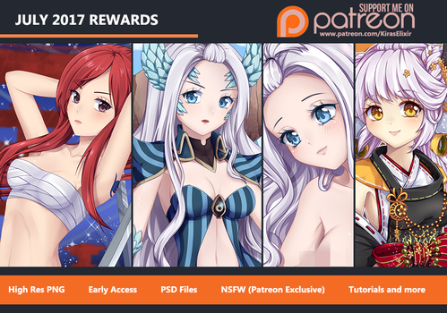 Patreon July Rewards Preview by KirasElixir