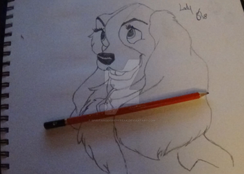 Lady and the Tramp - Lady Drawing by SpiritAndDisneyFreak