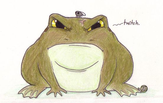 Angry Frog. by suger-hyper