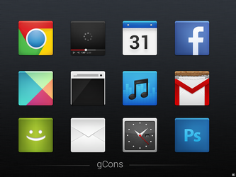 gCons - Icon Set by chrisbanks2