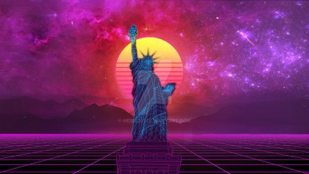 COMM: Statue of Liberty 80's Style by HeiBK201