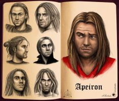 Apeiron face sketches by UnicatStudio