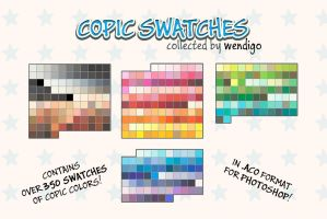 COPIC swatches for PS - Collected by Wendigo by DocWendigo
