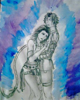 Tidus and Yuna Detail by visionsofJellyfish