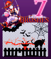 Halloween Brushes by HelenaGrimm