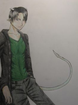 I Drew Levi And Don't Know What To Call It by AndroidButterfly