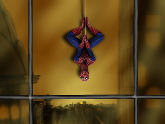 Spiderman Hanging by Magoovits