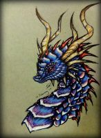 ~ Crimson Crested Blue ~ by SaphireDragon16