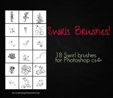 18 Swirl Brushes by sellyourhate