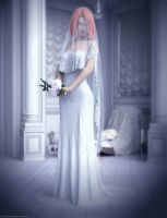 Promo Render - dForce White Wedding pack for G8F by QuanticDementia