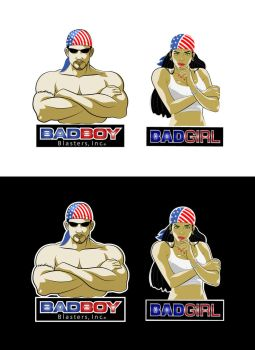 Badboy Badgirl Logo Illustration by gusmedi