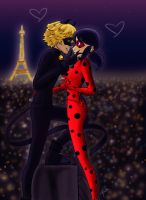 Ladybug and Chat Noir by Bella-Anima