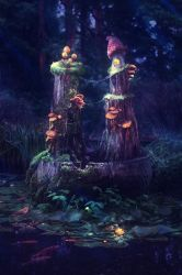 Mushroom Kingdom by mary-petroff