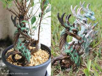 Deciduous Garden Stakes by emilySculpts