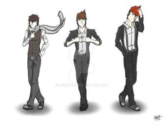 Speed Draw -Glitched Group Dapper by AshinoX1
