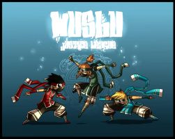 Wushu Sentai Justice League by Fred-H
