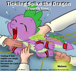 tickling Spike the dragon 4 by MalortComics785