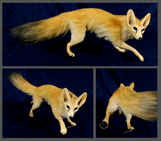Fennec Fox OOAK doll by FeralFacade