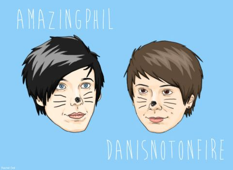 Amazingphil and Danisnotonfire by LuCkYrAiNdRoP