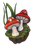 Two Little Mushrooms by ReapersElysium