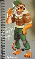 Aviator Tiger by Sommum