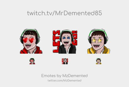 2nd Twitch Emotes for MrDemented85 by MzDemented