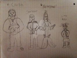 Rocky Rebel Characters #1  (BAD QUALITY SORRY) by StantheSpider