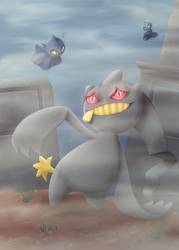 Pokemon #354 - Banette by MichPajamaArtist