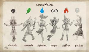 [Pepper_and_Carrot_X_Pokemon] Hereva Witches by Nartance